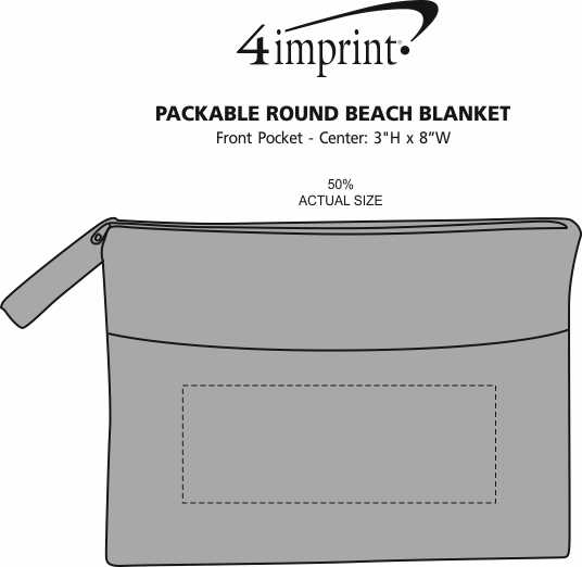 Imprint Area of Packable Round Beach Blanket