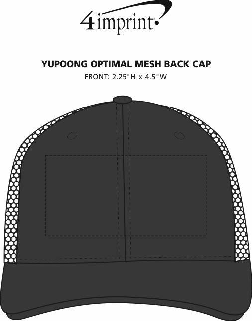 Imprint Area of Yupoong Optimal Mesh Back Cap