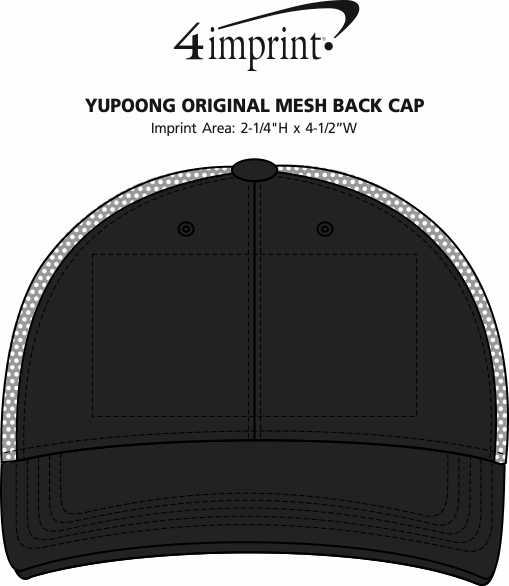 Imprint Area of Yupoong Original Mesh Back Cap