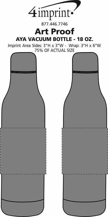 Imprint Area of Aya Vacuum Bottle - 18 oz.