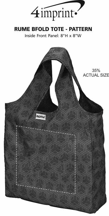 Imprint Area of RuMe bFold Tote - Pattern