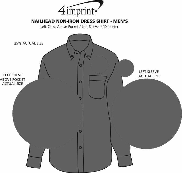 Imprint Area of Nailhead Non-Iron Dress Shirt - Men's