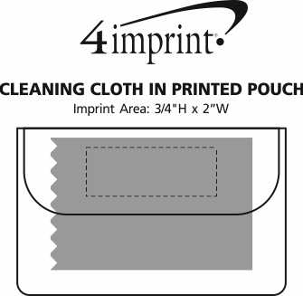 Imprint Area of Cleaning Cloth in Printed Pouch