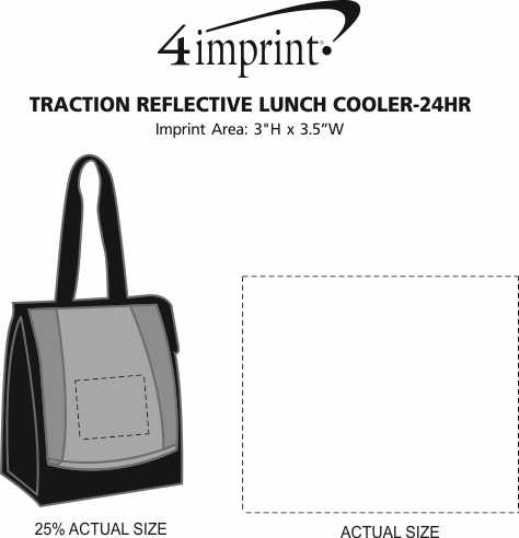 Imprint Area of Traction Reflective Lunch Cooler - 24 hr
