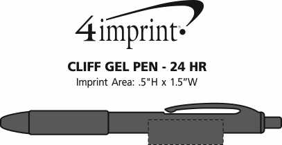 Imprint Area of Cliff Gel Pen - 24 hr