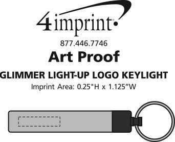 Imprint Area of Glimmer Light-Up Logo Key Light