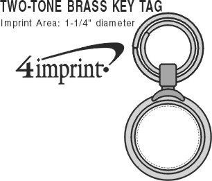Imprint Area of Two-Tone Brass Keychain