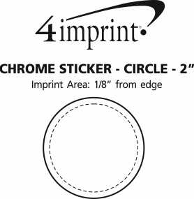 "Imprint Area of Chrome Sticker - Circle - 2"""