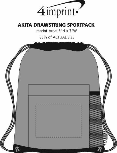 Imprint Area of Akita Drawstring Sportpack