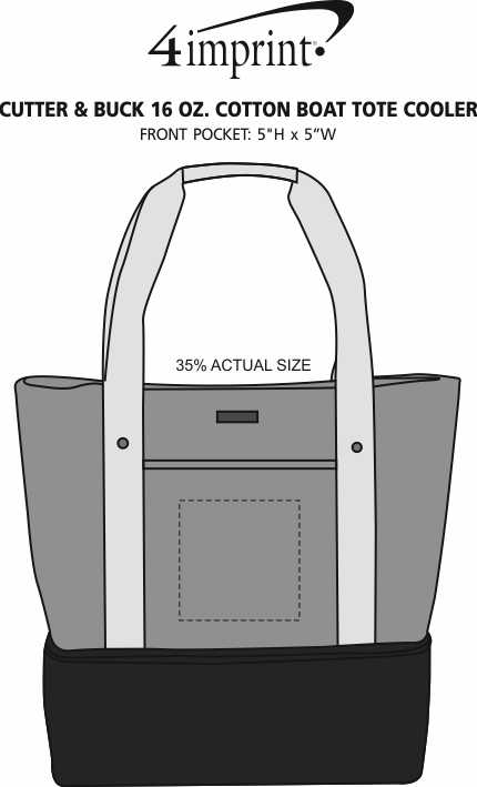 Imprint Area of Cutter & Buck 16 oz. Cotton Boat Tote Cooler