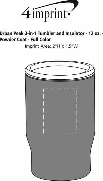 Imprint Area of Urban Peak 3-in-1 Tumbler and Insulator - 12 oz. - Powder Coat - Full Color