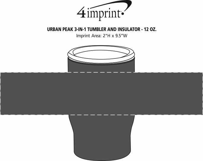 Imprint Area of Urban Peak 3-in-1 Tumbler and Insulator - 12 oz.