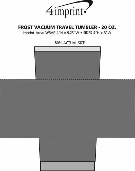Imprint Area of Frost Vacuum Travel Tumbler - 20 oz.