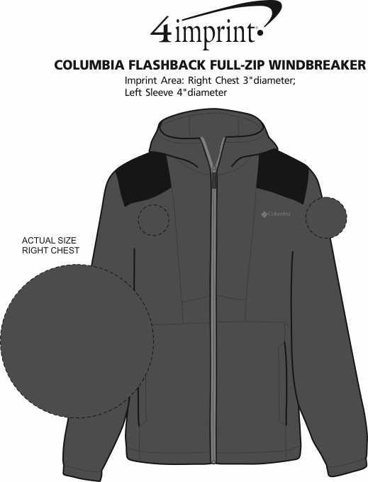 Imprint Area of Columbia Flashback Full-Zip Windbreaker