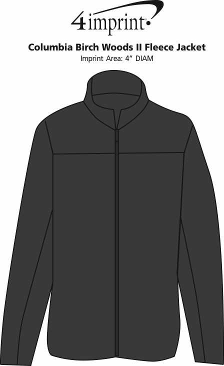 Imprint Area of Columbia Birch Woods II Fleece Jacket