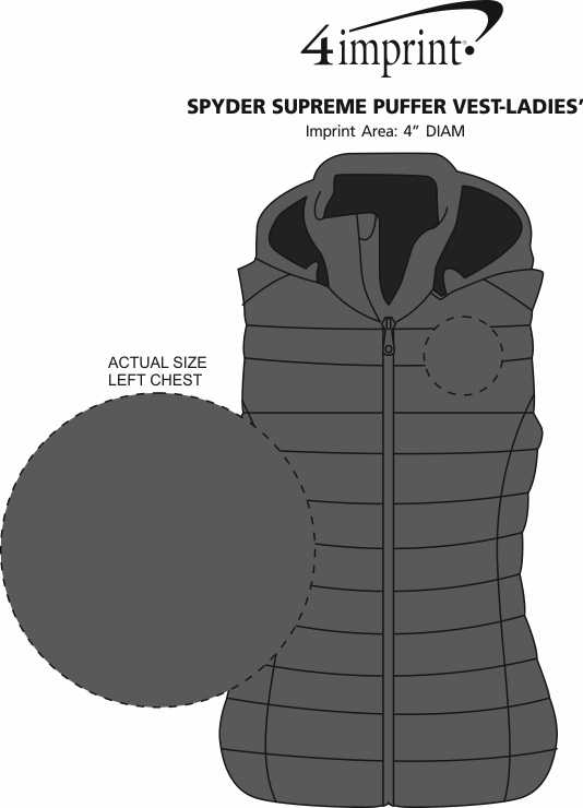 Imprint Area of Spyder Supreme Puffer Vest - Ladies'