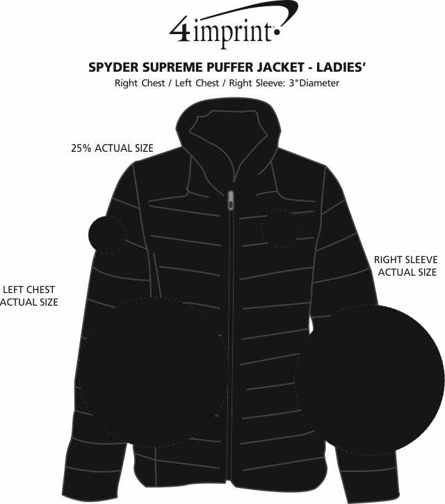 Imprint Area of Spyder Supreme Puffer Jacket - Ladies'
