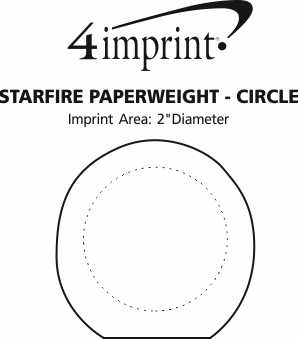 Imprint Area of Starfire Paperweight - Circle