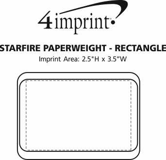 Imprint Area of Starfire Paperweight - Rectangle