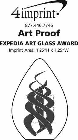 Imprint Area of Expedia Art Glass Award