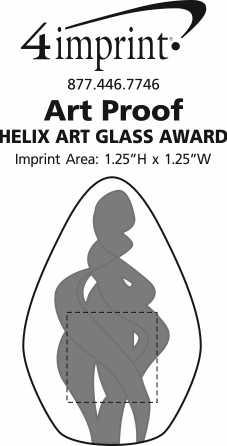 Imprint Area of Helix Art Glass Award