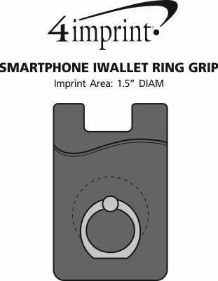 Imprint Area of Smartphone iWallet Ring Grip