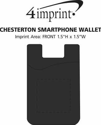 Imprint Area of Chesterton Smartphone Wallet