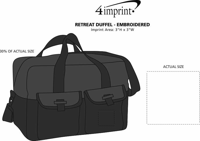 Imprint Area of Retreat Duffel - Embroidered