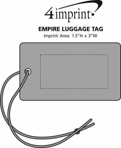Imprint Area of Empire Luggage Tag