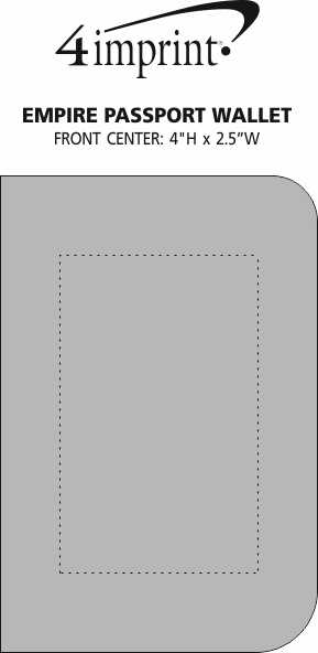 Imprint Area of Empire Passport Wallet