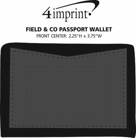 Imprint Area of Field & Co. Campster Passport Wallet