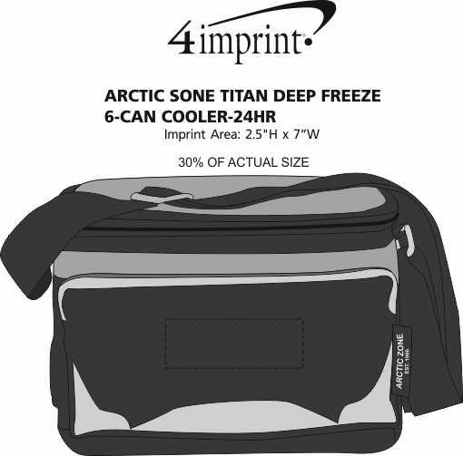 Imprint Area of Arctic Zone Titan Deep Freeze 6-Can Cooler - 24 hr