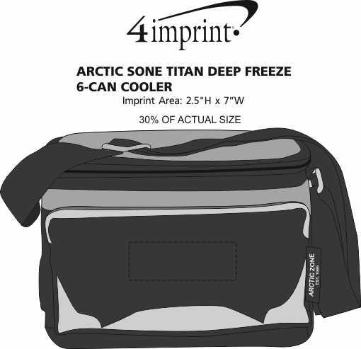 Imprint Area of Arctic Zone Titan Deep Freeze 6-Can Cooler