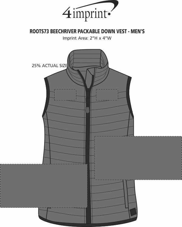 Imprint Area of Roots73 Beechriver Packable Down Vest - Men's