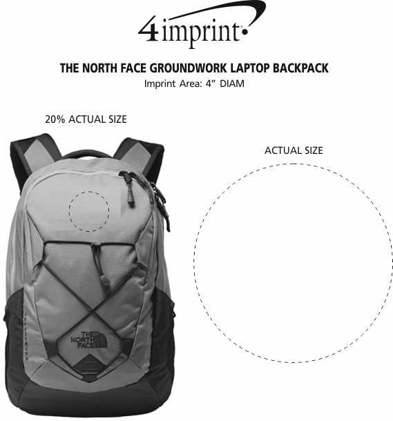 Imprint Area of The North Face Groundwork Laptop Backpack
