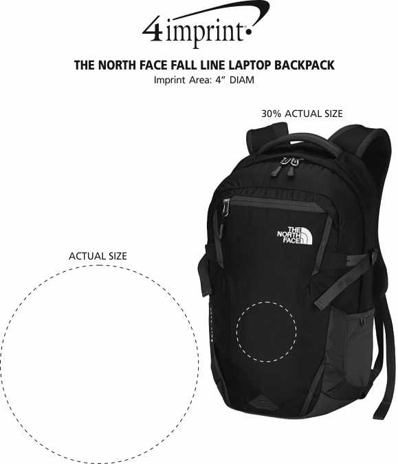 Imprint Area of The North Face Fall Line Laptop Backpack