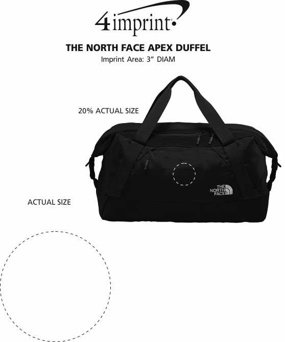 Imprint Area of The North Face Apex Duffel