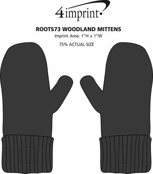 Imprint Area of Roots73 Woodland Mittens