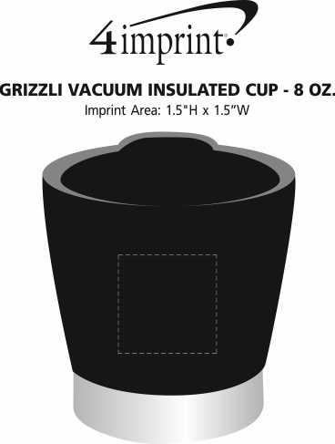 Imprint Area of Grizzli Vacuum Insulated Cup - 8 oz.