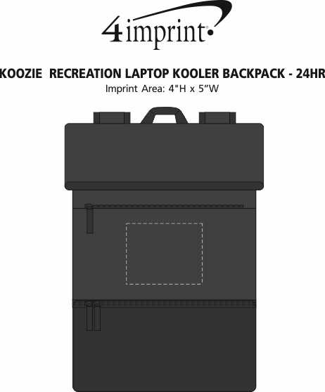 Imprint Area of Koozie® Recreation Laptop Kooler Backpack - 24 hr
