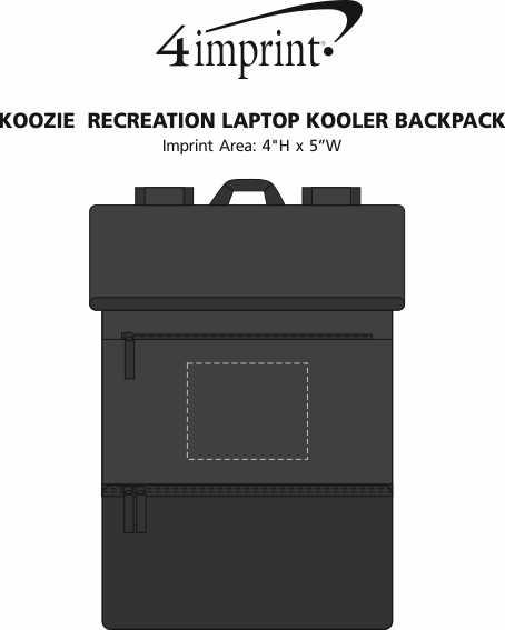 Imprint Area of Koozie® Recreation Laptop Kooler Backpack