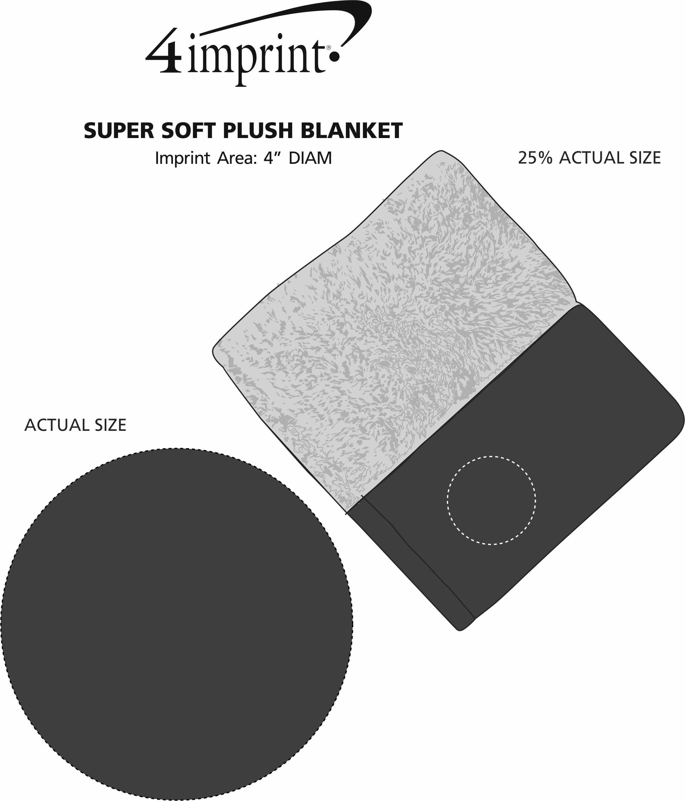 Imprint Area of Super Soft Plush Blanket
