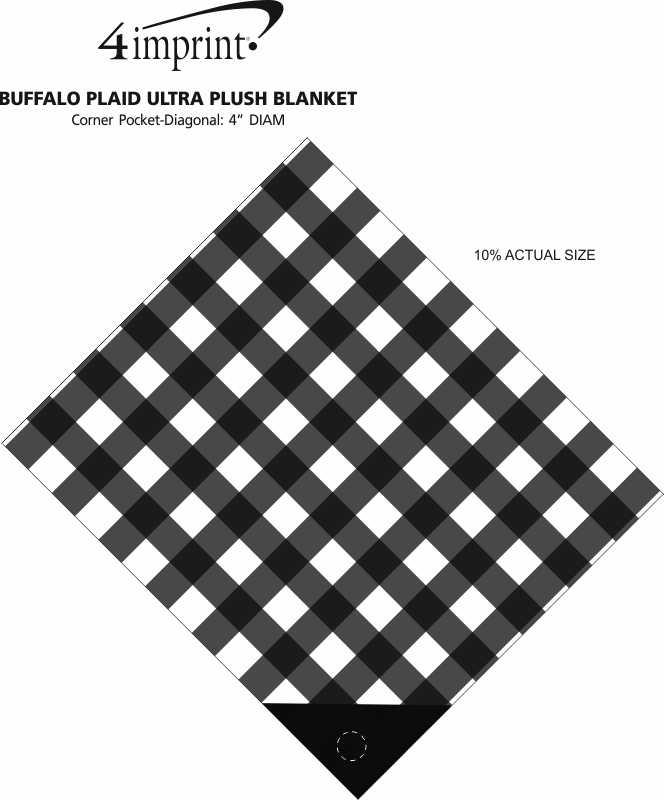 Imprint Area of Buffalo Plaid Ultra Plush Blanket