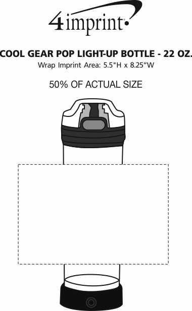 Imprint Area of Cool Gear POP Light-Up Bottle - 22 oz.