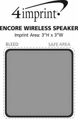 Imprint Area of Encore Wireless Speaker