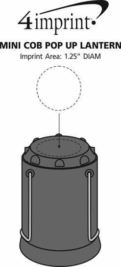 Imprint Area of Mini COB Pop Up Lantern