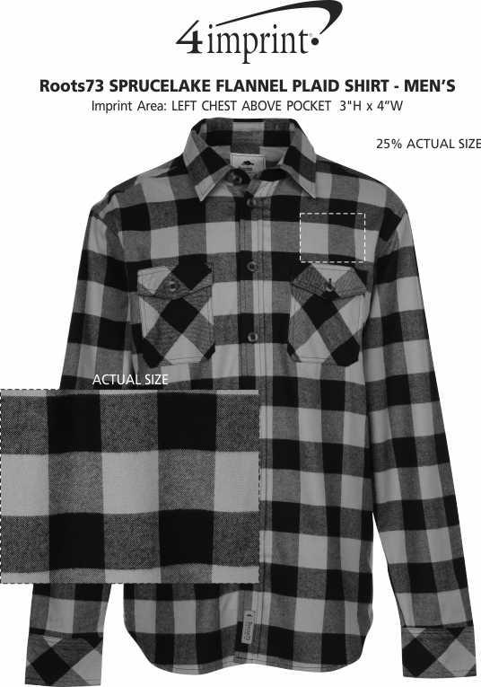 Imprint Area of Roots73 Sprucelake Flannel Plaid Shirt - Men's