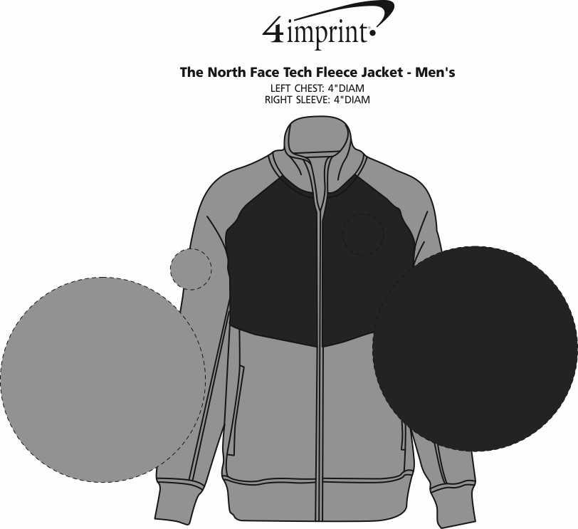 Imprint Area of The North Face Tech Fleece Jacket - Men's