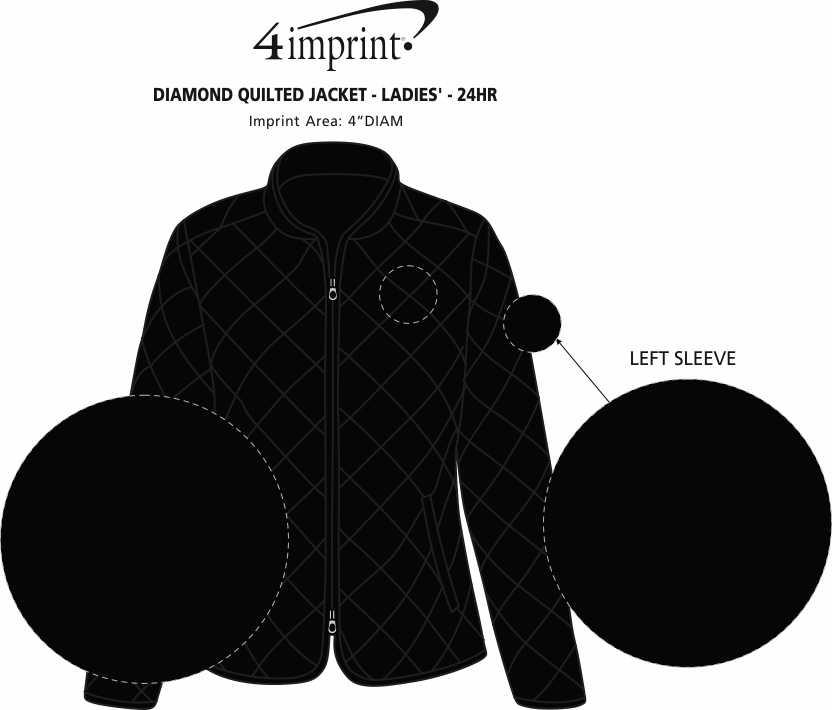 Imprint Area of Diamond Quilted Jacket - Ladies' - 24 hr