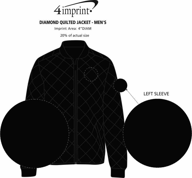 Imprint Area of Diamond Quilted Jacket - Men's